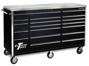 "Picture of Extreme 72"" Roller Cabinet Tool Box w/ Stainless Steel Top R-EX7218RC"