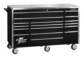 "Picture of Extreme Tools 72"" Roller Cabinet W/ Stainless Steel Top R-EX7217RC"
