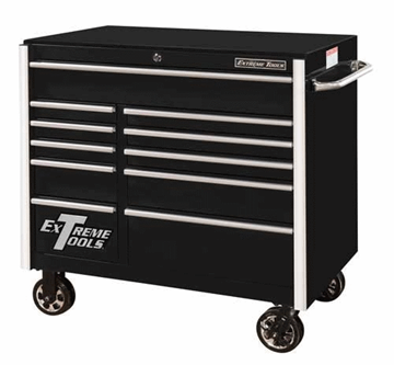 "EXTREME TOOLS RX412511RC 41"" 11 DRAWER BLACK TOOL CABINET"