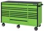 "green with black trim 72"" tool box"