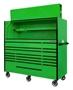 green with black trim tool box set