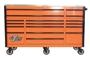Orange with black trim EX7217RC Tool Cabinet Box Wheels