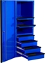 Side Tool Cabinet Locker Blue with Black